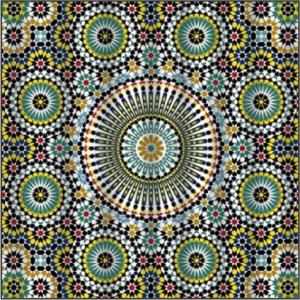 Printed Mask – Moroccan Green