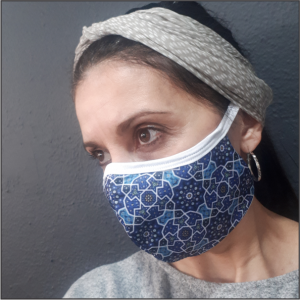 Printed Mask – Moroccan Blue