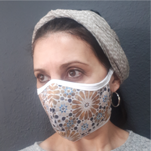 Printed Mask – Moroccan Gold