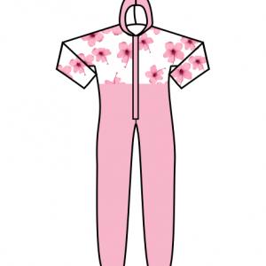 Medical Jumpsuits Pink Foral
