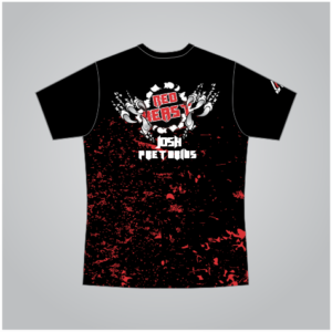 Supporter T-Shirt Black & Red Male/Female Cut