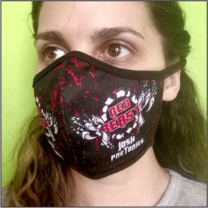 "Supporter ""Red Beast"" Mask Black/Red"