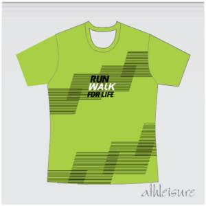 Run Walk For Life Athleisure T-Shirt – Green